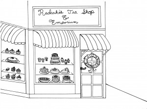 Redcakes Coloring Page